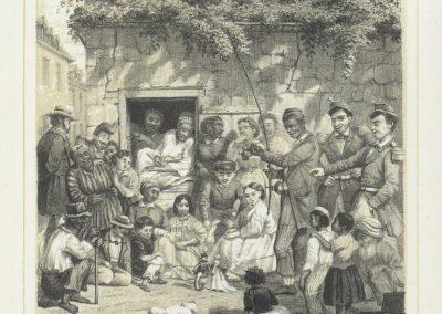 roussin gravure reunion lontan cafe bourbon 58